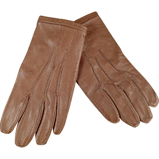 Very Small Vintage Leather Gloves for Child or Large Doll - Fownes London