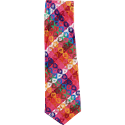 Men's Vintage Necktie - Bold & Colorful - Custom Made
