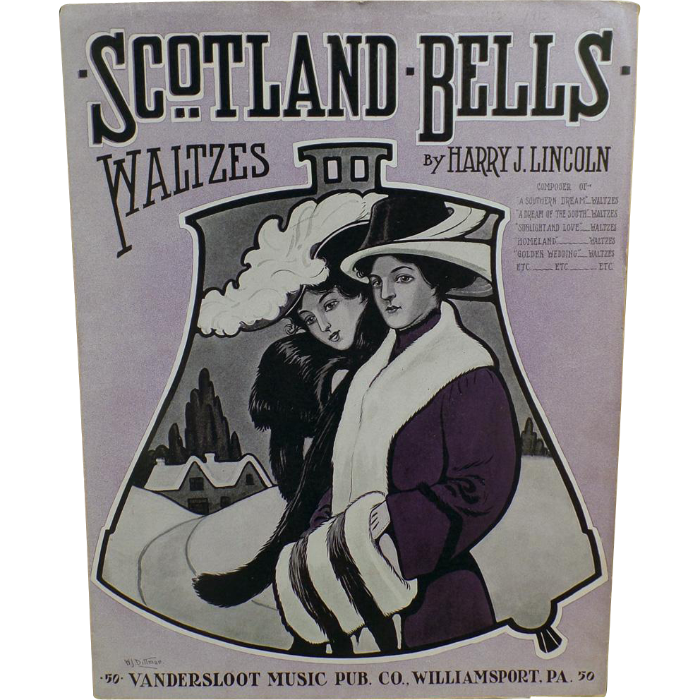 Vintage Sheet Music - Scotland Bells - Waltzes