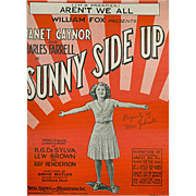 Vintage Sheet Music - I'm A Dreamer Aren't We All - 1929 - from Sunny Side Up