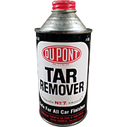 Vintage DuPont Advertising Tin Tar Remover for Cars