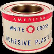 Vintage White Cross Adhesive Plaster Tin
