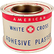 Vintage White Cross Adhesive Plaster Tin