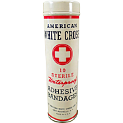 Vintage Bandage Tin - American White Cross - Still Full