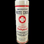 Vintage Bandage Tin - American White Cross - Still Full