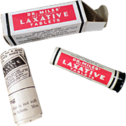 Vintage, Dr. Miles Laxative Tin with Original Box