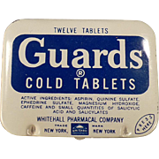 Vintage Aspirin Tin - Guards Cold Tablets