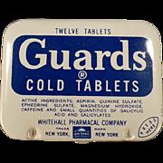 Vintage Aspirin Tin - Guards Cold Tablets