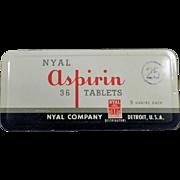 Vintage, Nyal 36 Aspirin Tin