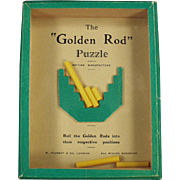 Vintage Dexterity Game - The Golden Rod Puzzle - 1960's