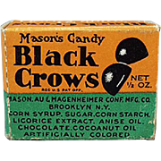 Vintage, Black Crow Candy Box Sample