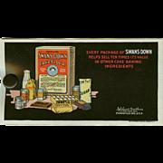 Vintage Celluloid Blotter Advertising Swans Down Cake Flour
