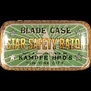 Vintage, Star Safety Razor Blade Case - Tin for Wedge Blades