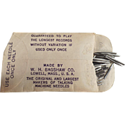 Vintage Phonograph Needles - Bagshaw's Brilliantone - Partial Package