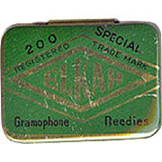 Vintage Phonograph Needle Tin - Elkah Gramophone Needles