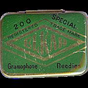 Vintage Phonograph Needle Tin - Elkah Gramophone Needles