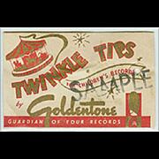 Vintage Phonograph Needles - Goldentone Twinkle Tips - Sample Package