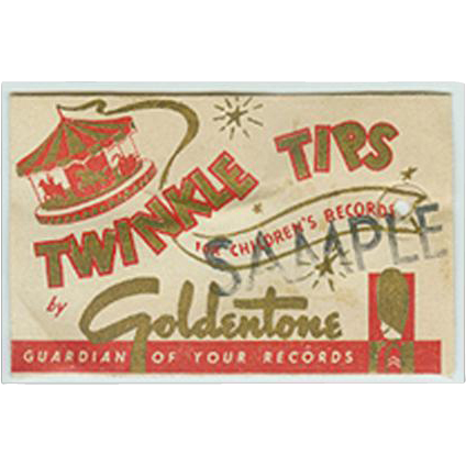 Vintage Phonograph Needles - Goldentone Twinkle Tips - Sample Package