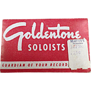 Vintage Phonograph Needles - Goldentone Soloists - Package of 50