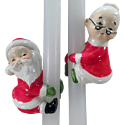 Vintage Candle Climbers for Christmas - Santa & Mrs. Claus