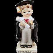 Vintage Boy Graduate Porcelain Figurine - Graduation Congratulations
