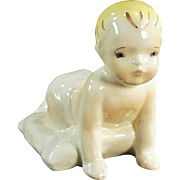 Vintage Dadson Pottery Artware - Crawling Toddler Figurine