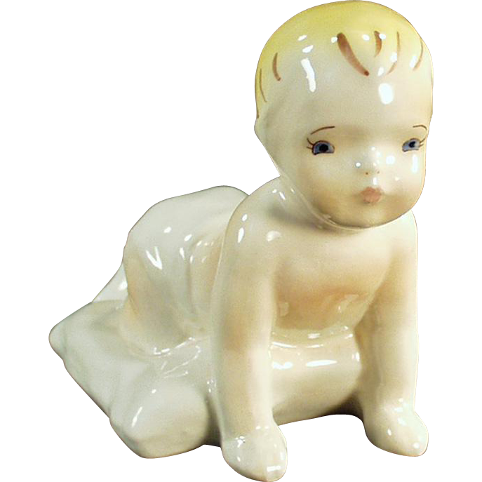 Vintage Dadson Pottery Artware - Crawling Toddler Figurine