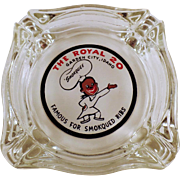 Vintage Glass Ashtray Advertising The Royal of Garden City, Idaho