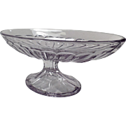 Vintage Heisey Banana Split - Footed Base, Sun Purple - Two Available