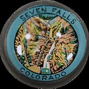 Vintage, Advertising Paperweight - Seven Falls Colorado