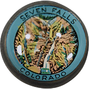 Vintage, Advertising Paperweight - Seven Falls Colorado