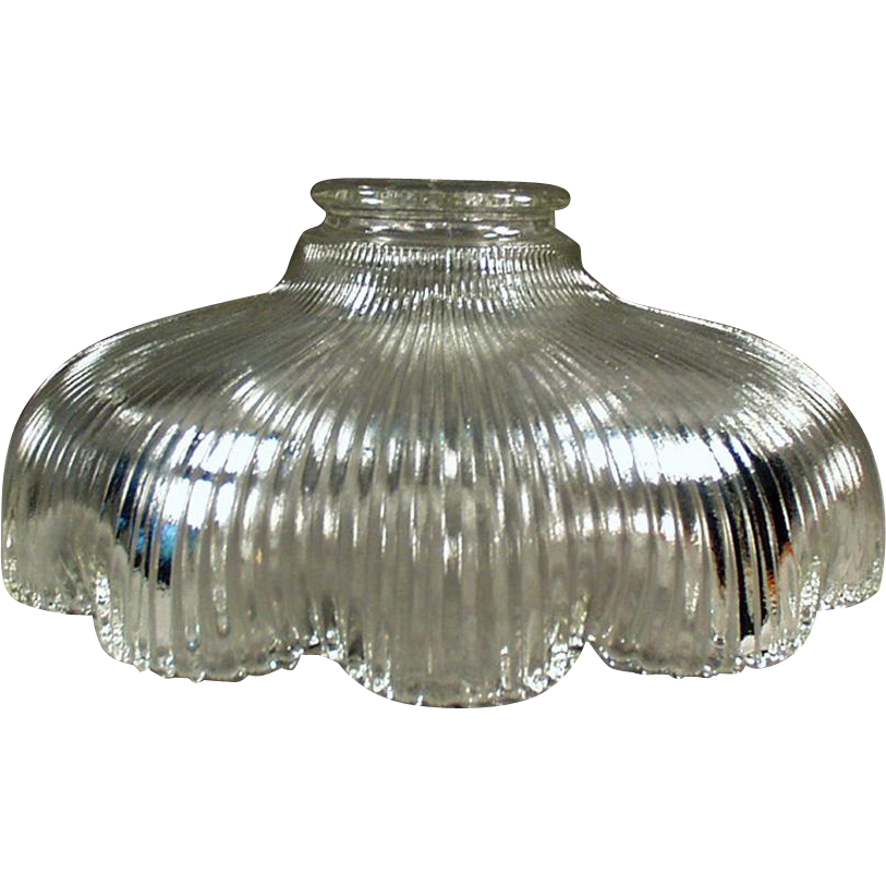 Vintage Light Shade - Shallow with Scalloped Edge