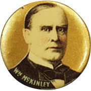 Vintage Celluloid Pinback - President William McKinley - Political Pin