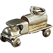 Vintage Charm - C-Cab Tanker Truck - Sterling Silver Charm
