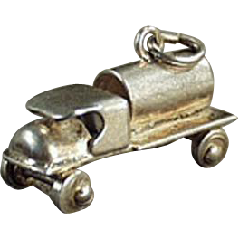 Vintage Charm - C-Cab Tanker Truck - Sterling Silver Charm