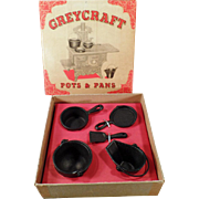 Vintage GreyCraft Pots & Pans Set with Original Box