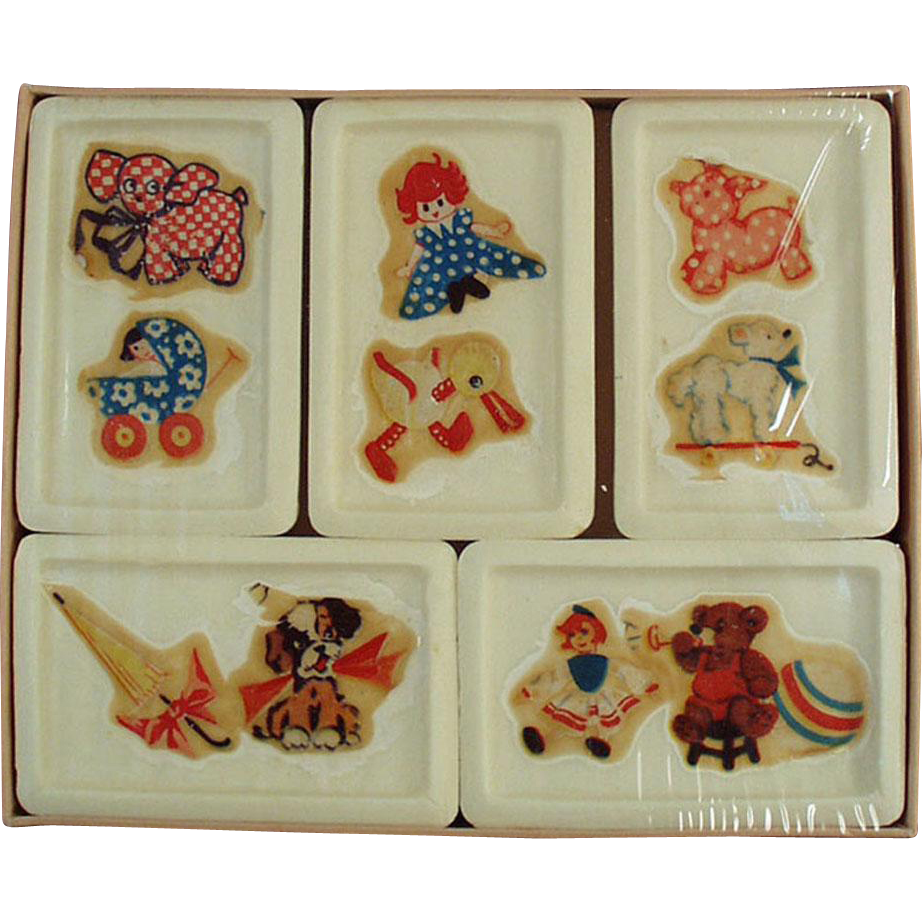 Vintage Bars of Soap - D-Kal - Castile Soap Original Decals and Original Box