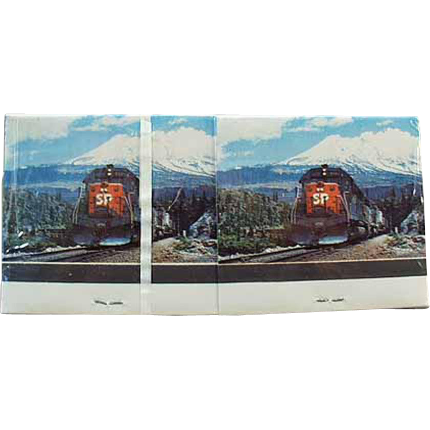 Vintage Matchbooks - Southern Pacific Railroad - Advertising Matchbooks with Train