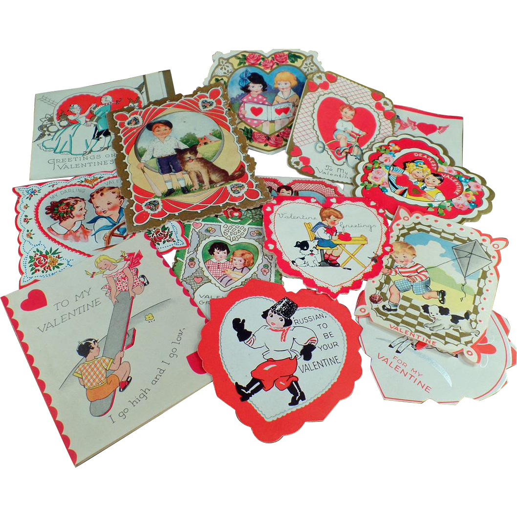 Vintage Valentines -  Assortment of Fun Designs