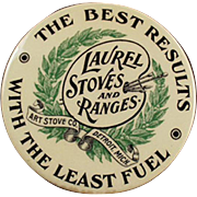 Vintage Celluloid Advertising Mirror - Laurel Stoves