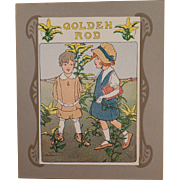 Old, Framable, Seed Packet Art - Goldenrod with Young Children