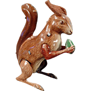 Vintage Wind Up Squirrel Toy - Germany - See it work on our Facebook page