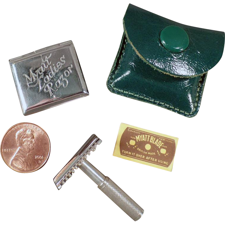Vintage Myatt Ladies Razor with Original Tin & Blade