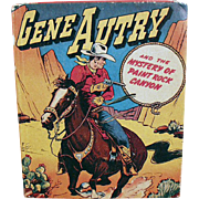 Vintage Better Little Book - Gene Autry the Mystery of Paint Rock Canyon - No. 1425