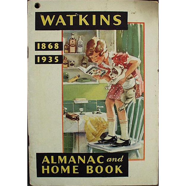 1935 Almanac - Vintage J.R. Watkins Advertising