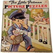 Vintage Picture Puzzles - Little Postman Set by Ruth E. Newton with Original Box