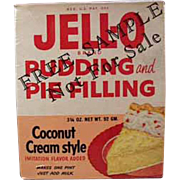 Vintage Jell-O Sample Box - Coconut Cream - 1950's