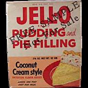 Vintage Jell-O Sample Box - Coconut Cream - 1950's