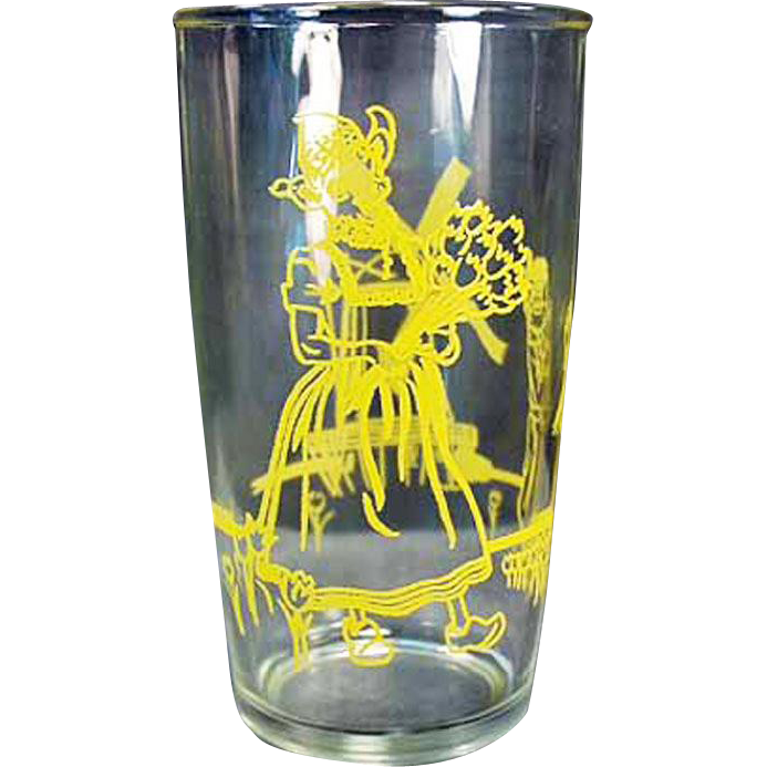 Vintage Elsie the Borden Cow Jelly Glass