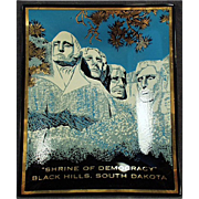 Vintage Souvenir form Mount Rushmore - Glass Tray in Origianl Package